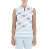 Gelato Collection: Geneva Sleeveless Diagonal Stripe Top