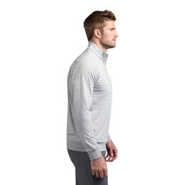Mantra Long Sleeve Chest Stripe Quarter Zip Pullover