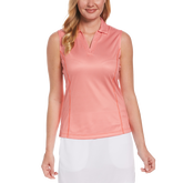 Ditsy Floral Collection: Gingham Sleeveless Polo Shirt
