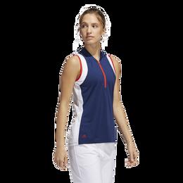 Women's Colorblock Sleeveless Polo Shirt