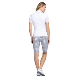 Short Sleeve Mesh Stripe Top