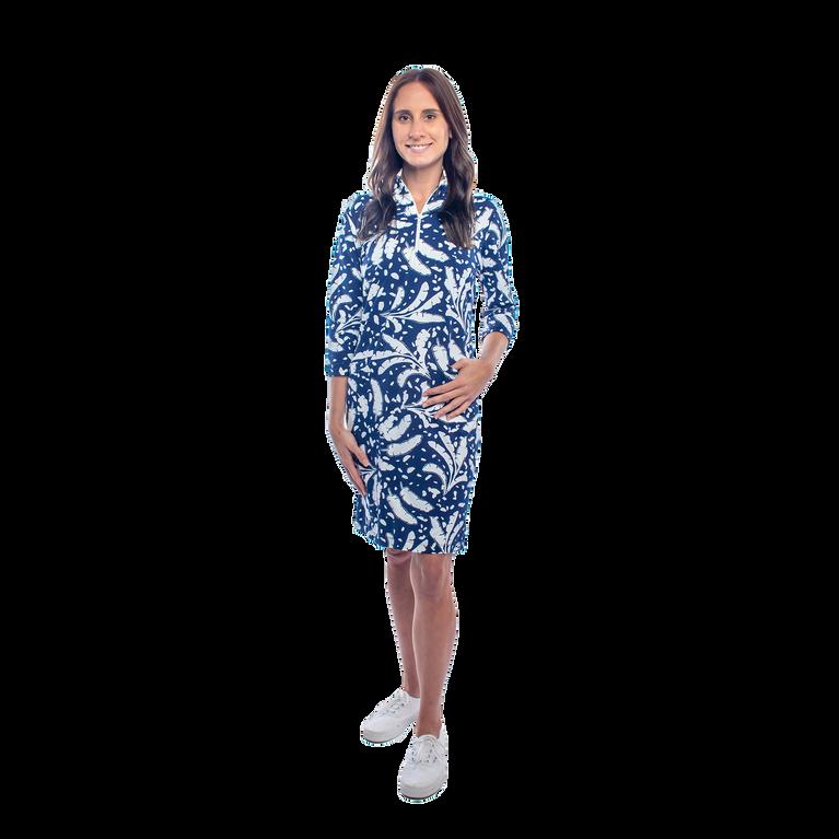 Doral 3/4 Sleeve Leaf Print Dress