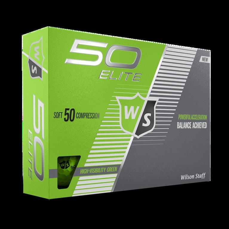 Fifty Elite Green Golf Balls