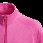 Alternate View 3 of Girls Long Sleeve Full Zip  Heathered Jacket