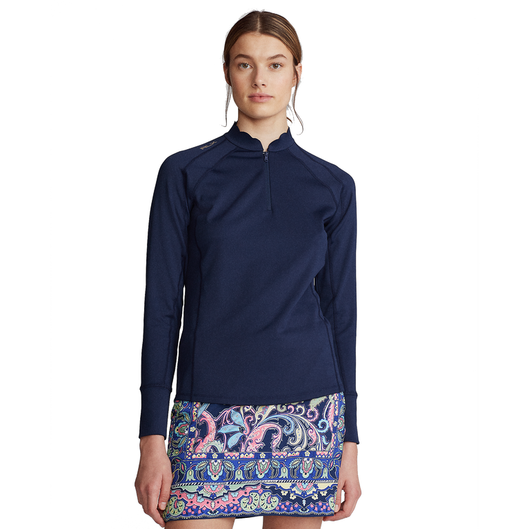 Stretch Jersey Long Sleeve Quarter Zip Pull Over