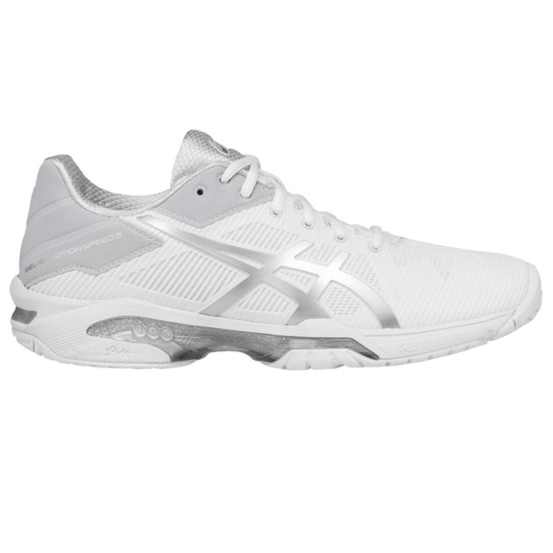 Asics GEL Solution Speed 3 Women's Tennis Shoe WhiteSilver