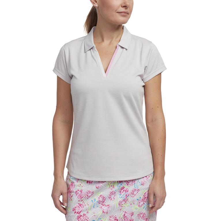 Cheeky Collection: Short Sleeved Heathered Golf Polo