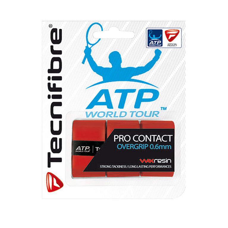 Tecnifibre Pro Contact Overgrip 3 Pack - Red