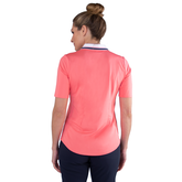 Alternate View 3 of Pink Lady Collection: Short Sleeve Zip Front Polo Shirt