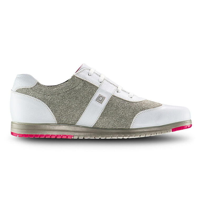 FootJoy Casual Collection Women's Golf Shoe - White/Tan