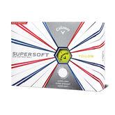 Supersoft Yellow Golf Balls - Personalized