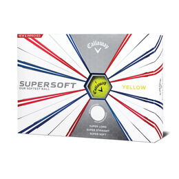 Supersoft Yellow Golf Balls - Personalized