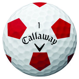 Callaway Chrome Soft Truvis Golf Balls - White/Red