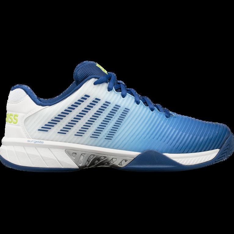 Hypercourt Express 2 Men's Tennis Shoe - White/Blue
