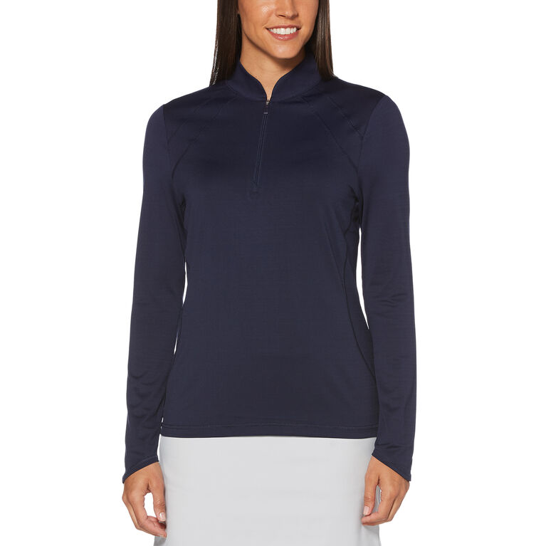 PGA TOUR Sun Protection 1/4 Zip Long Sleeve Shirt