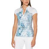 Green Group: Tropic Shades Print Short Sleeve Polo Golf Shirt