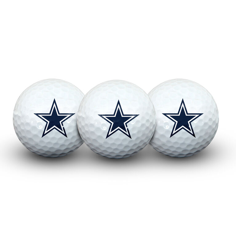 Team Effort Dallas Cowboys Golf Ball 3 Pack