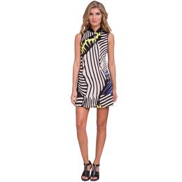 Blah Blah Blah Collection: Sleeveless Zebra Print Dress