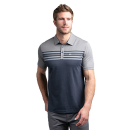 All Day Every Day Short Sleeve Colorblock Stripe Polo