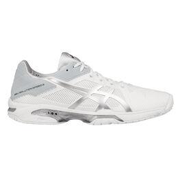 Asics GEL-Solution Speed 3 Men's Tennis Shoe - White/Silver
