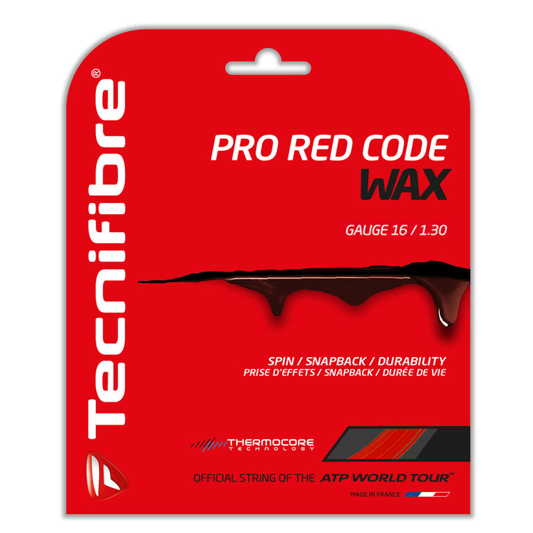Tecnifibre Pro Redcode Wax 16 Gauge String Set - Red