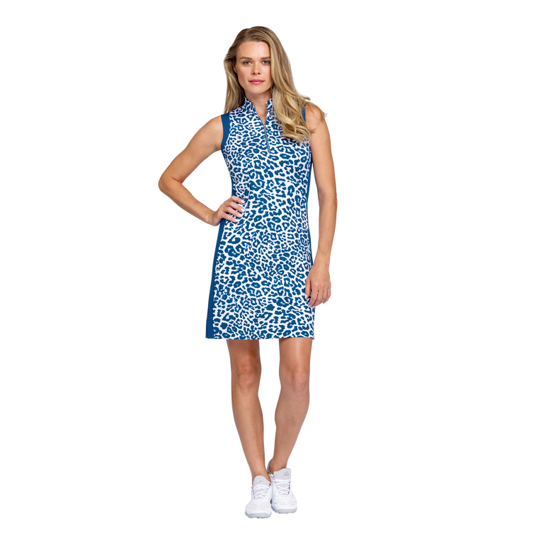 Tranquil Bay Collection: Leopard Print Sleeveless Golf Dress