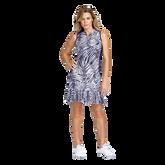 Aspen Ray Collection: Nabila Palm Print Sleeveless Dress