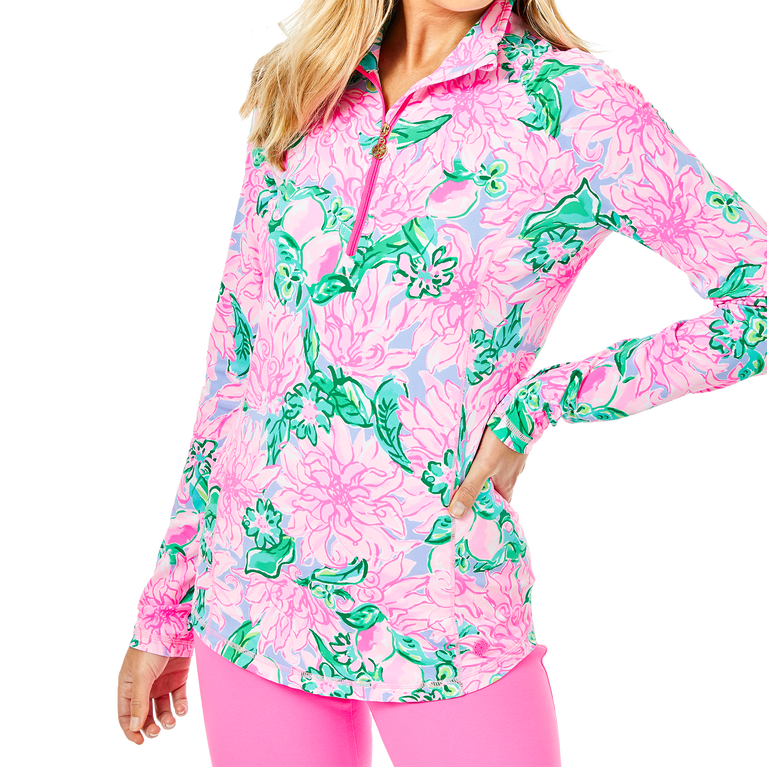 Justine Luxetic Pineapple Paradise Quarter Zip Pull Over