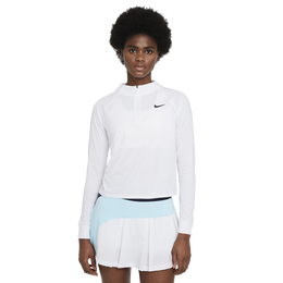 NikeCourt Dri-FIT Victory Women's Cropped Quarter Zip Pull Over