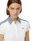 Alternate View 2 of Cara Short Sleeve Gingham Back Polo