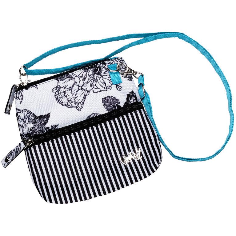 B/W Rose Zip Bag
