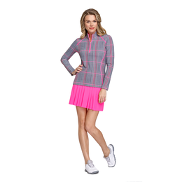 Rose Garden Collection: Courtney Plaid Quarter Zip Pull Over