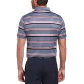 Alternate View 1 of Allover Stripe Short Sleeve Golf Polo Shirt