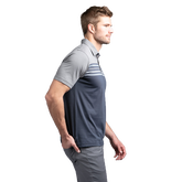 Alternate View 1 of All Day Every Day Short Sleeve Colorblock Stripe Polo