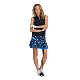 Alternate View 3 of Pacific Vista Collection: Louisa Sleeveless Piped Zip Top