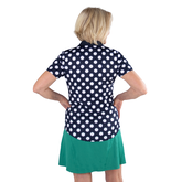 Alternate View 2 of Appletini Collection: Short Sleeve Polka Dot Polo