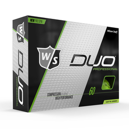 DUO Professional Matte Green Golf Balls - Personalized