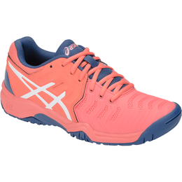 GEL-Resolution 7 GS Girls Tennis Shoe - Navy/Pink