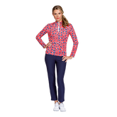 Fun the Sun Collection: Panther Print Quarter Zip Pull Over