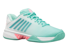 Hypercourt Express 2 Women's Tennis Shoe - Light Blue/White