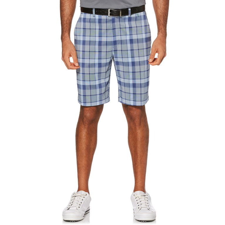 Roadmap Madras Yarn Dyed Plaid Flat Front Golf Short with Active Waistband