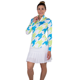 Alternate View 4 of Key West Collection: Long Sleeve Houndstooth Quarter Zip Pull Over