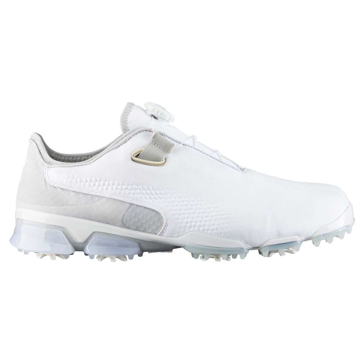 PUMA TITANTOUR Ignite Premium Disc Men s Golf Shoe - White Grey ab4ebffaa