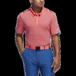 Climachill Three-Color Stripe Polo Shirt