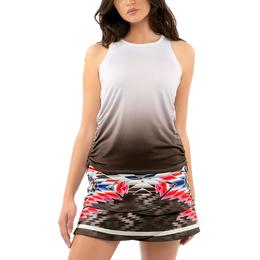 Noir Ombre Ruched Tank Top