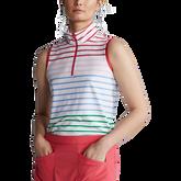 Alternate View 2 of Rainbow Stripe Sleeveless Quarter Zip Polo