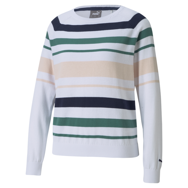 Ribbon Stripe Long Sleeve Sweater
