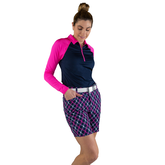"""Alternate View 2 of Rojito Collection: Playoff Plaid 7.5"""" Golf Short"""