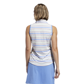Alternate View 4 of Minted Blues Collection: Ultimate Stripe Sleeveless Polo Shirt