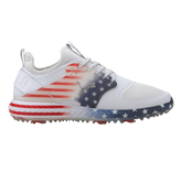 Limited Edition IGNITE PWRADAPT CAGED Stars and Stripes Men's Golf Shoe - White/Blue